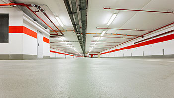 Hypertectum duoflex coating for parking garages