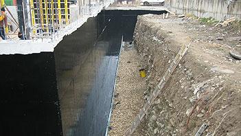 Hypertectum duoflex pour les sous-sols de revêtement d'étanchéité