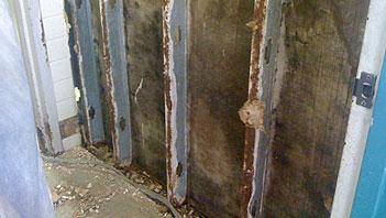 Moisture problems in walls