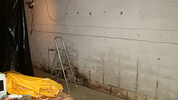 Basements waterproofing against rising damp and damp walls.